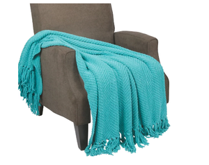 Chunky Fringe Throw Fleece Mink Super Soft