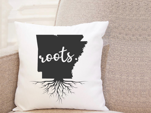 State Roots - Arkansas - Pillow