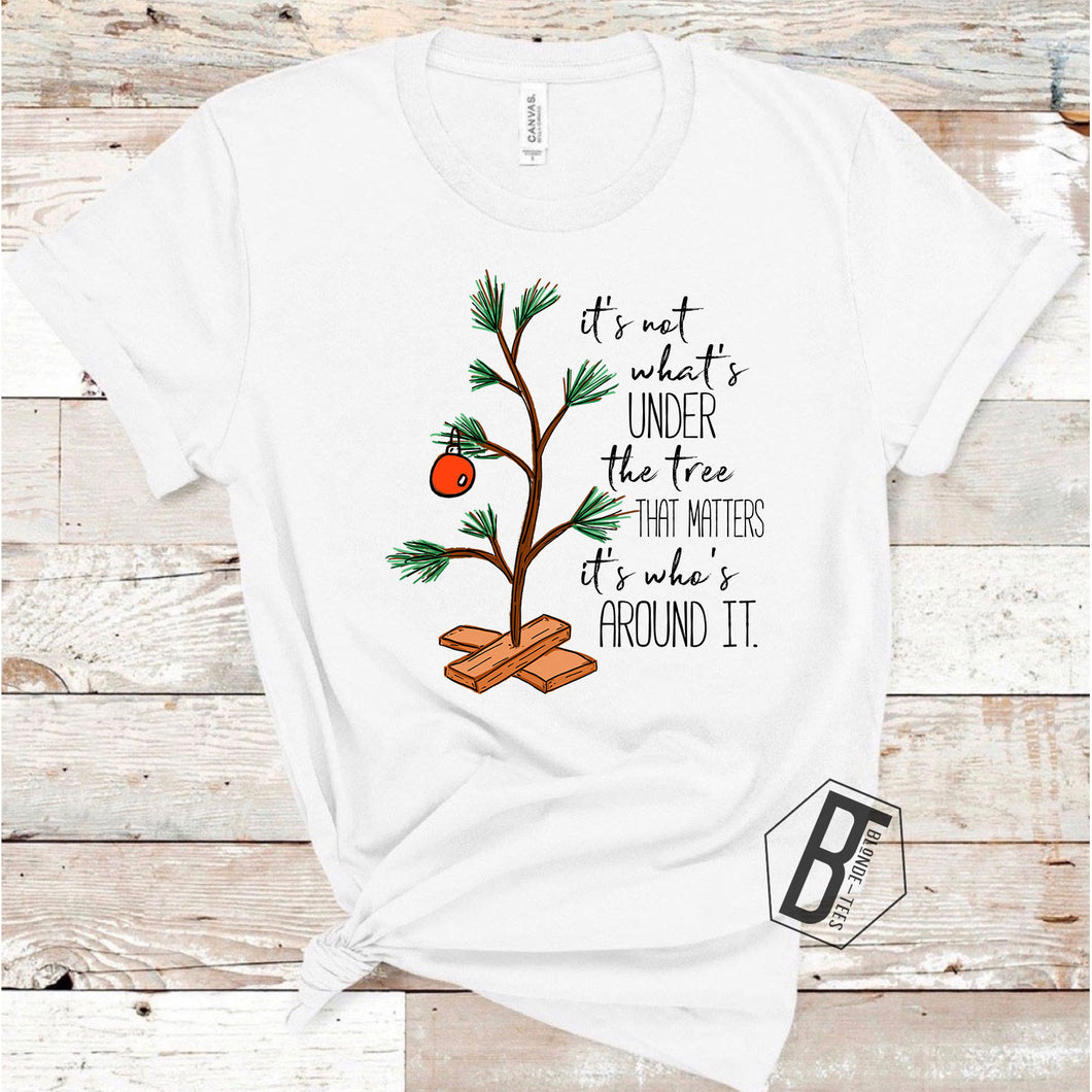 Charlie Brown Tree with Quote