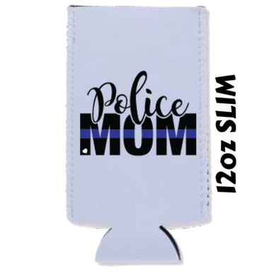 Back The Blue - Police Mom - Car Coasters/ Koozies