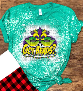 Got Beads / Mardi Gras - Acid Wash Green