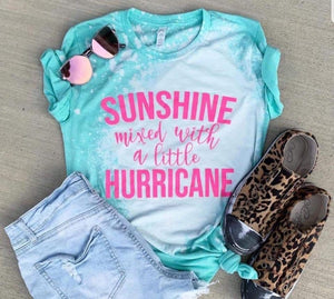 Sunshine mixed with a little Hurricane - Acid Wash Teal