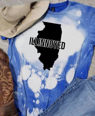 Illinoyed w/ State - Acid Wash Royal Blue