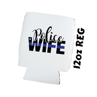 Back The Blue - Police Wife - Car Coasters/ Koozies