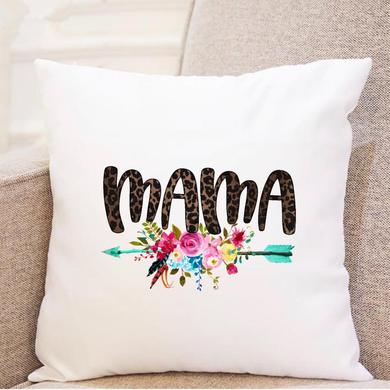 Mama w/Floral Arrow - Pillow