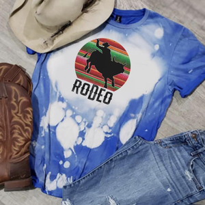 Rodeo/ Bull Rider w/Serape - Acid Wash Royal Blue