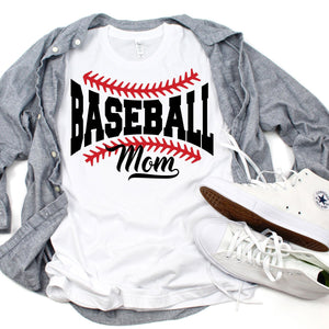 Baseball Mom - White