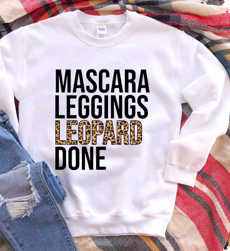 Mascara Leggings Leopard Done - White