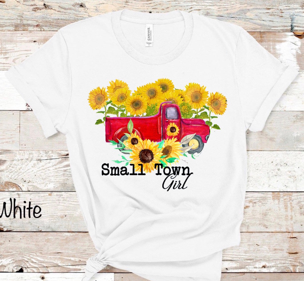 Small Town Girl w/ Sunflowers
