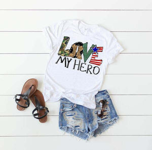 Love My Hero - White