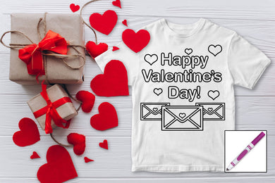 Kids Valentines Color Tee