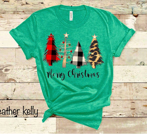 Merry Christmas - Wild Trees - NO BOW