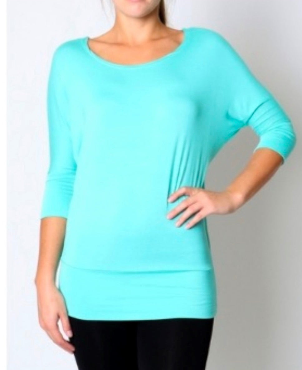 Scoop Neck - Teal