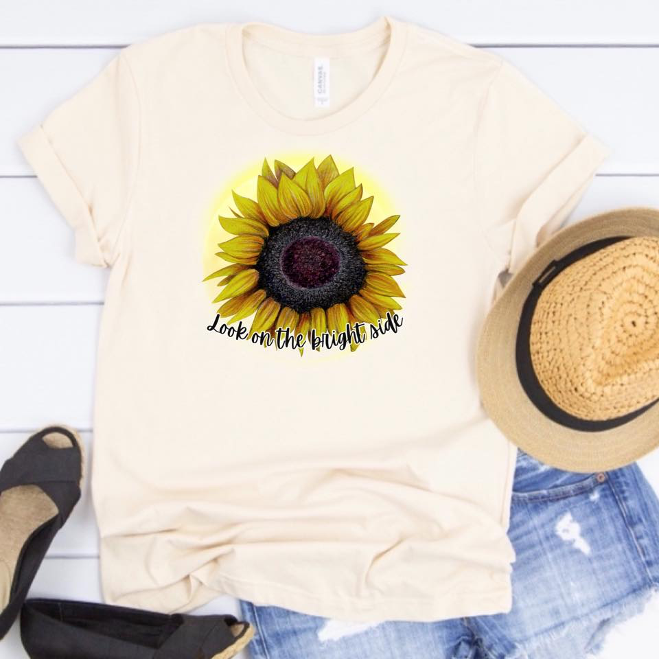 Look on the Bright Side - Sunflower - Cream