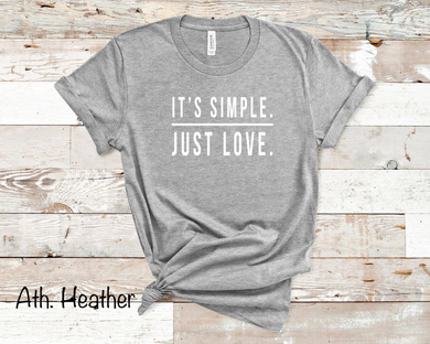 It's Simple Just Love - Sport Grey