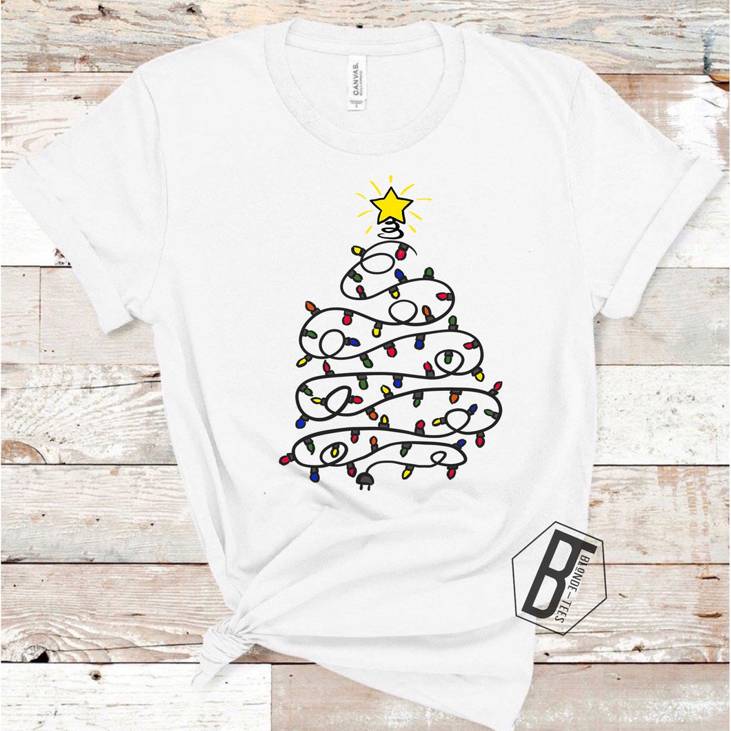 Be The Light Christmas Tree - White