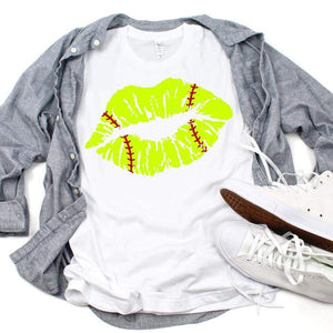 Softball Lips - White