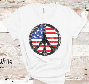 Peace Red White & Blue