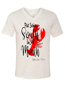 Put Some South In Your Mouth - V-Neck - Oatmeal