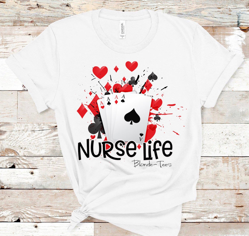 Nurse Life - Play Cards - White - Ace's