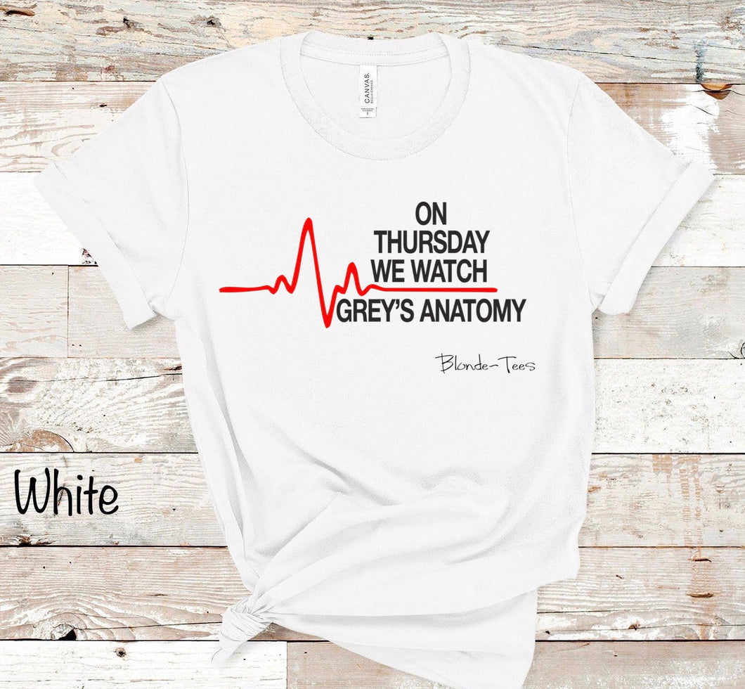 On Thursday's we watch Grey's Anatomy - White