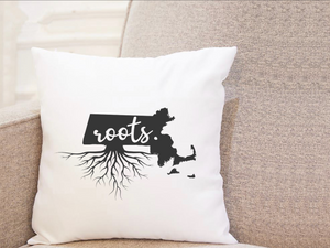 State Roots - Massachusetts - Pillow