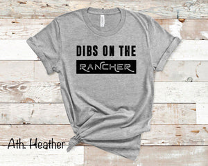 Dibs on the Rancher - Athletic Heather