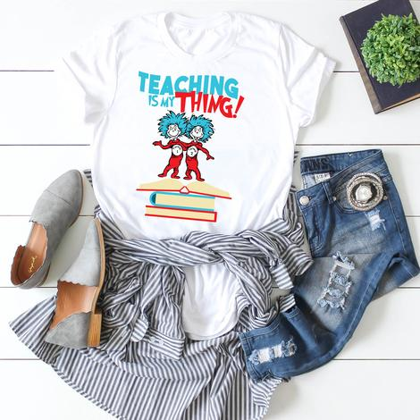 Teaching Is My Thing Dr. Suess (Blue Writing)