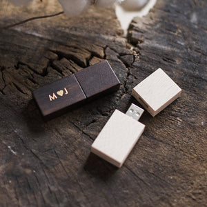 Wooden USB Drives - individually personalized - 10pcs