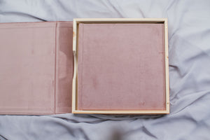 Wood & Fabric Album Box (NO USB) NEW!