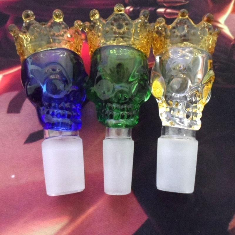 🔥 💨  The Skull King Colored Glass Bowls - Dope Smokes [variant_title], [option1],