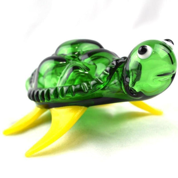 Cute Turtle Glass Pipes 4.8'' Portable Oil Burner Glass Pipes Fashion Smoking Pipes Tobacco Pipes Hand Pipe for Cigarette