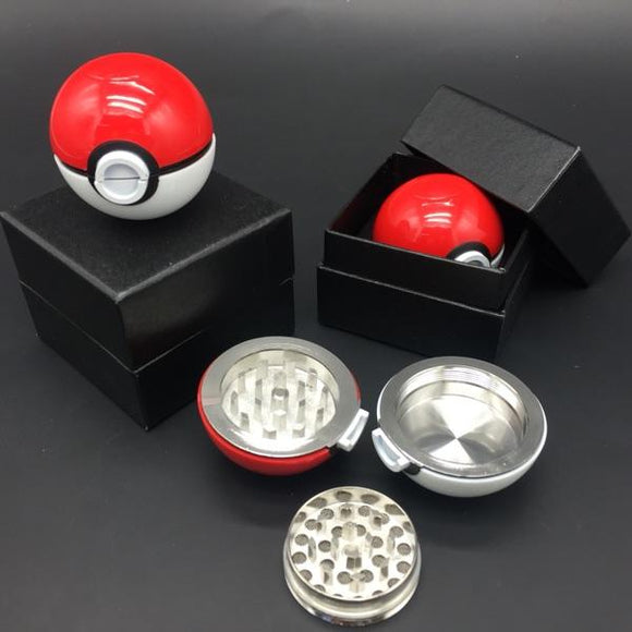 Newest Brand Aluminum Herb Pokemon Pokeball Tobacco Grinder Cigarette Lighter Supplies Accessories  Grinders