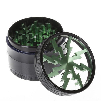 🐼 🐶 63MM Luxe Four Layers Herb Grinder Quality - Dope Smokes Green, Green,
