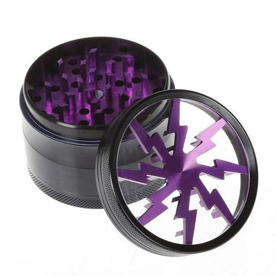 🐼 🐶 63MM Luxe Four Layers Herb Grinder Quality - Dope Smokes Pourpre, Pourpre,