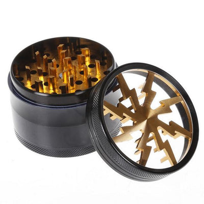 🐼 🐶 63MM Luxe Four Layers Herb Grinder Quality - Dope Smokes Gold, Gold,
