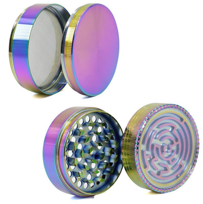 Rainbow Lightning maze Herb Grinder - Dope Smokes Quality Cannabis Products