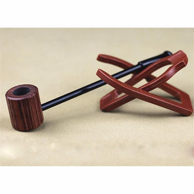 Vintage Style Wooden Pop Eye Smoking Pipe - Dope Smokes Quality Cannabis Products