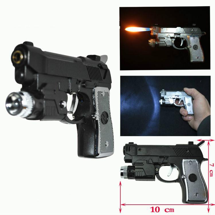 Novelty Pistol .45 Lighter and Flashlight for jokes - Dope Smokes Quality Cannabis Products