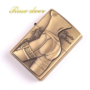 🔥 💨  Retro Metal Carving Beautiful Women Booty Lighter - Dope Smokes [variant_title], [option1],