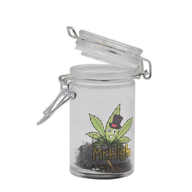 🐼 🐶 EZ Open 100% Glass Moisture Proof Jar For Herb and Bud - Dope Smokes [variant_title], [option1],