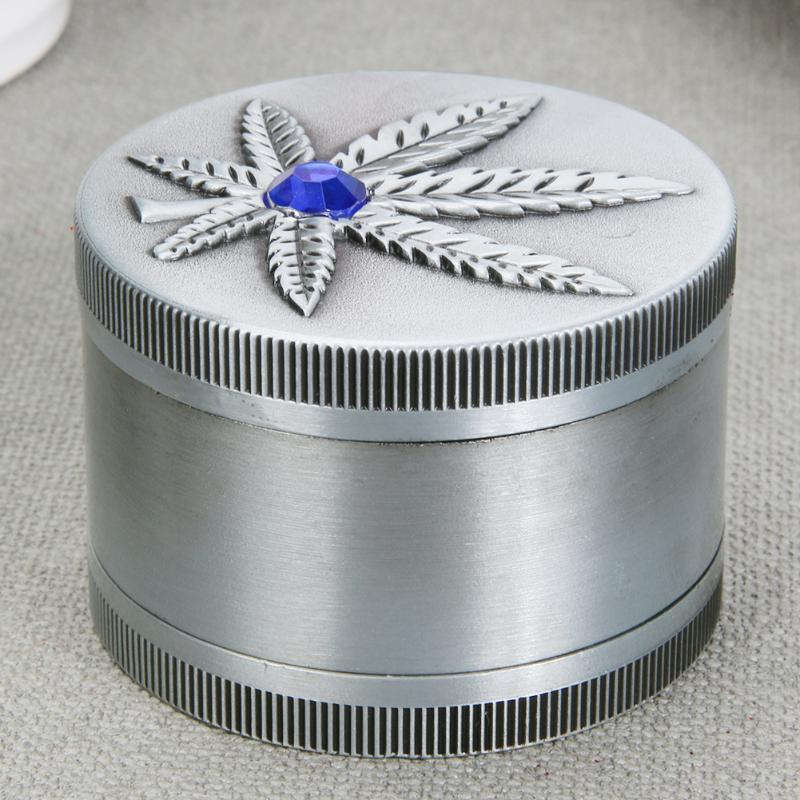 3 Layer Pot Leaf Pattern Herbal Grinder - Dope Smokes Quality Cannabis Products