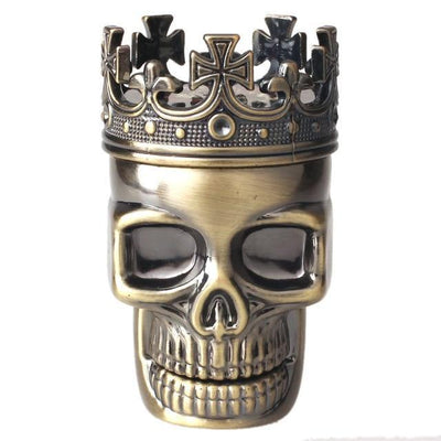 New King Classic Skull Metal Herb and Spice Grinder - Dope Smokes Quality Cannabis Products