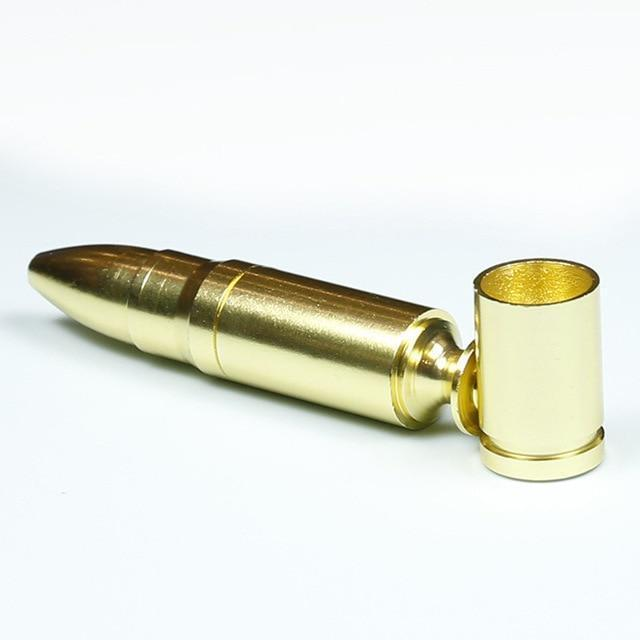 1PCS Steel Removable Replica Bullet Ammunition Tobacco Pipes - Dope Smokes Quality Cannabis Products