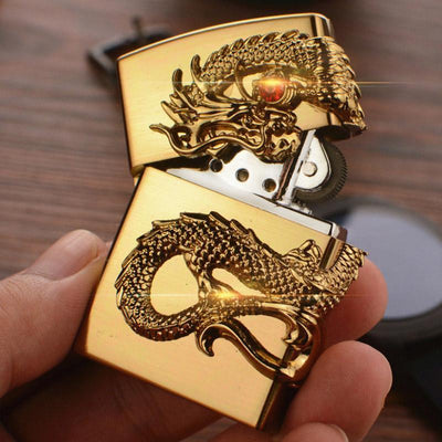 🔥 💨  Retro Dragon Metal Flip Style Lighters - Dope Smokes [variant_title], [option1],