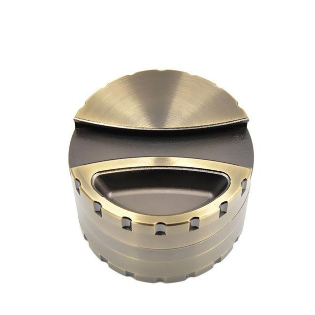Large Heavy Zinc Easy Turn Herb Grinder With Teeth 80MM - Dope Smokes Quality Cannabis Products