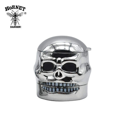 🔥 💨  Silver Skull Metal Herb Shark Teeth Grinder 3 Layers 40 MM - Dope Smokes [variant_title], [option1],