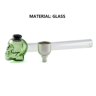 🐼 🐶 1 Pc Skull Glass Creative Smoking Skull Glass Hand Pipe - Dope Smokes [variant_title], [option1],