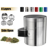 🔥 💨  Metal Tobacco Herb Grinder 4 Layers - Side Open For Easy access - Dope Smokes [variant_title], [option1],