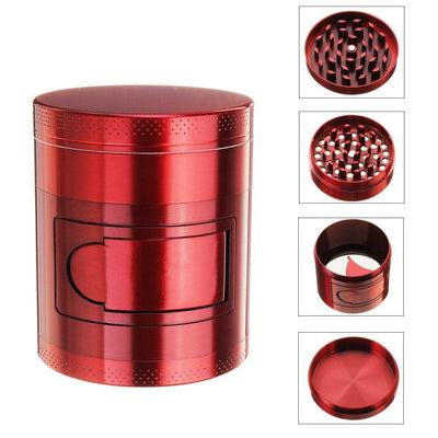 🐼 🐶 Metal Tobacco Herb Grinder 4 Layers - Side Open For Easy access - Dope Smokes [variant_title], [option1],
